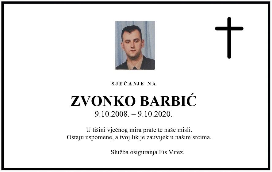 Sjećanje na: Zvonko Barbić