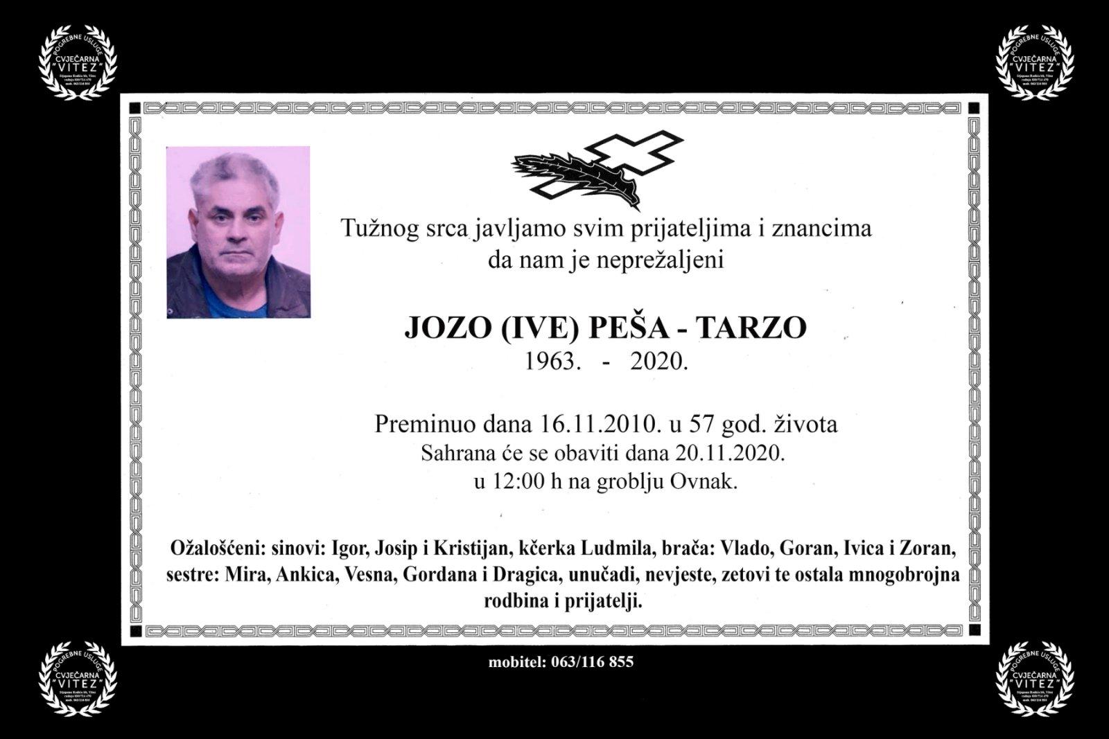 Jozo (Ive) Peša – Tarzo