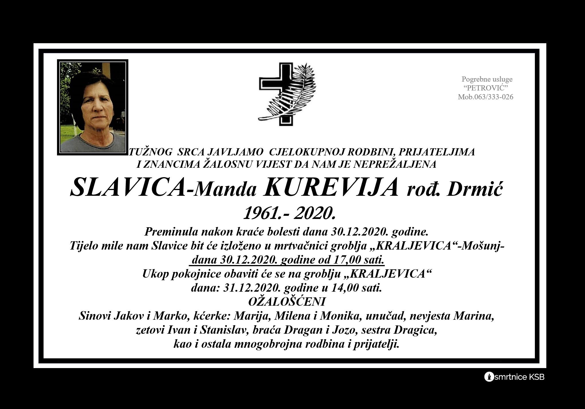 Slavica-Manda Kurevija rođ. Drmić