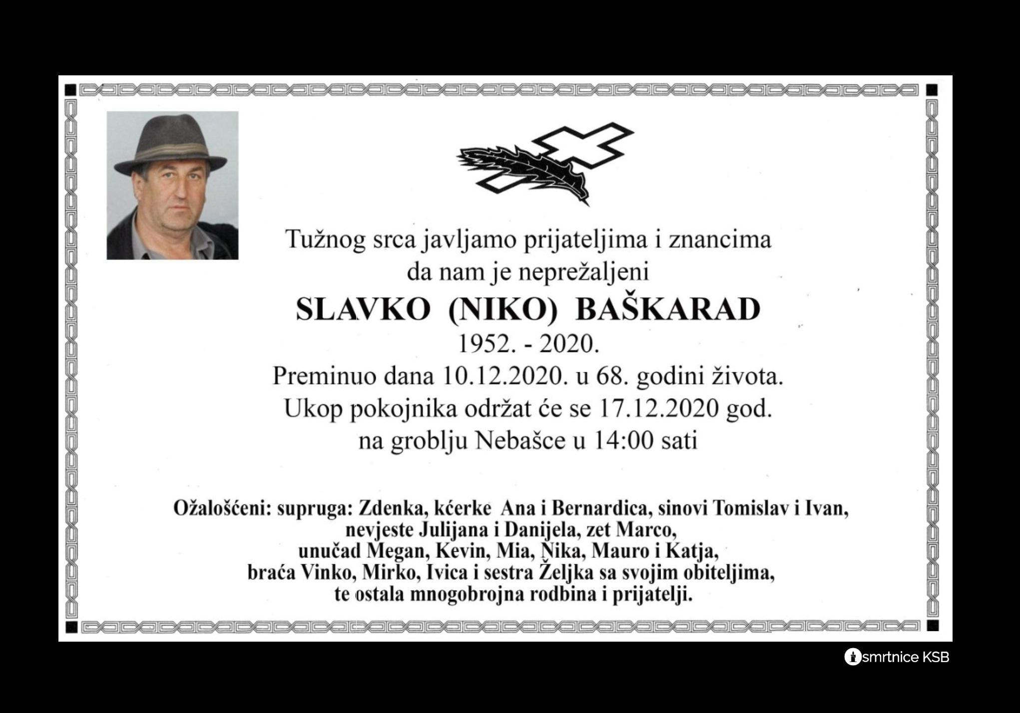 Slavko (Niko) Baškarad