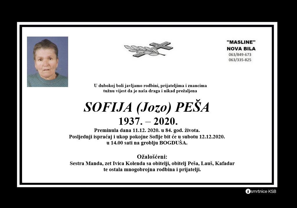 Sofija (Jozo) Peša