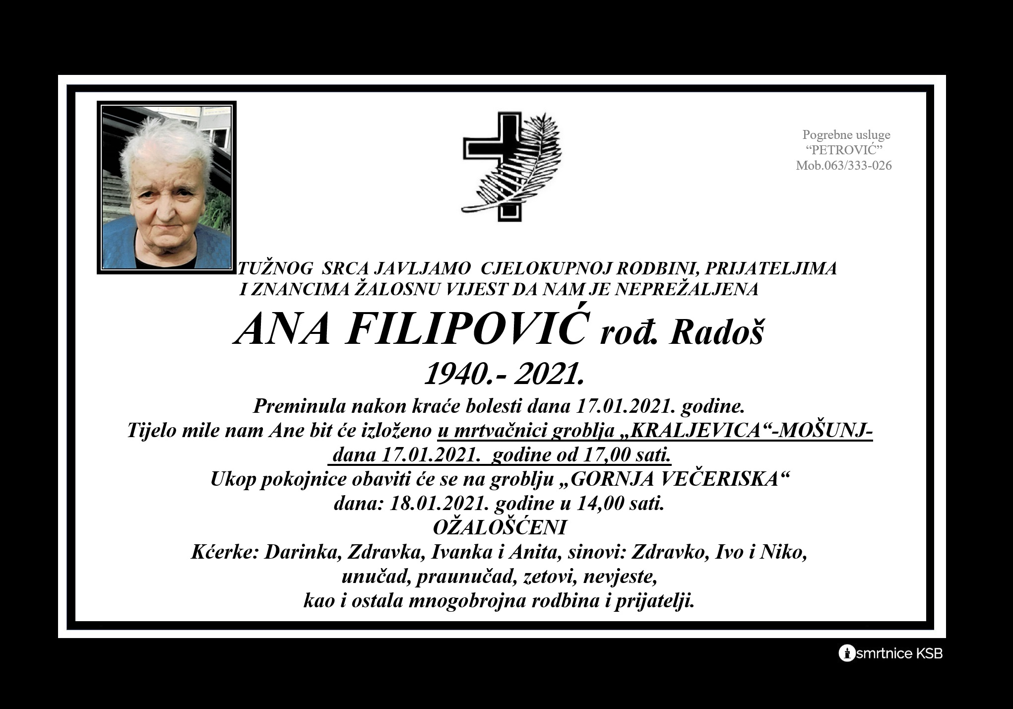 Ana Filipović rođ. Radoš