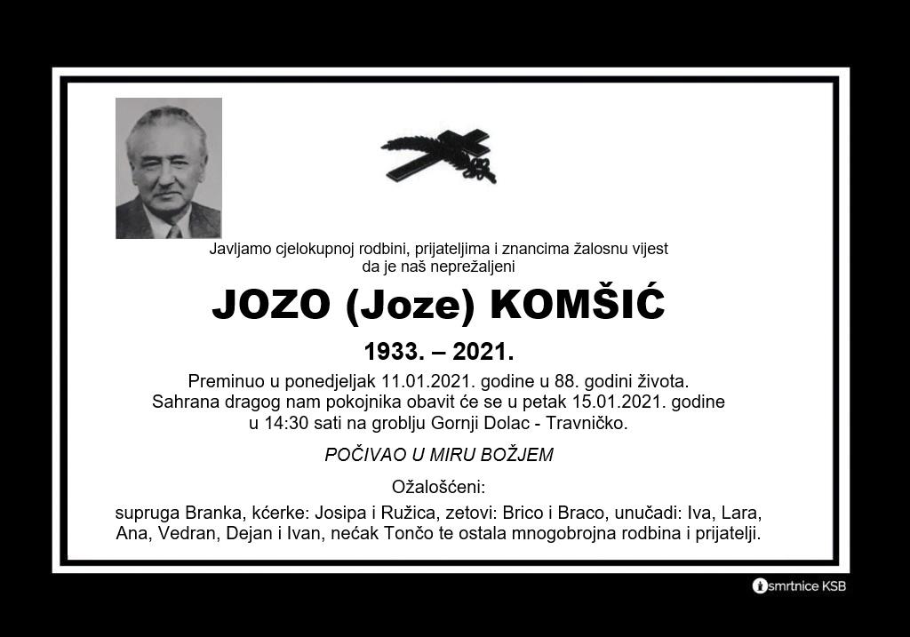 Jozo (Joze) Komšić