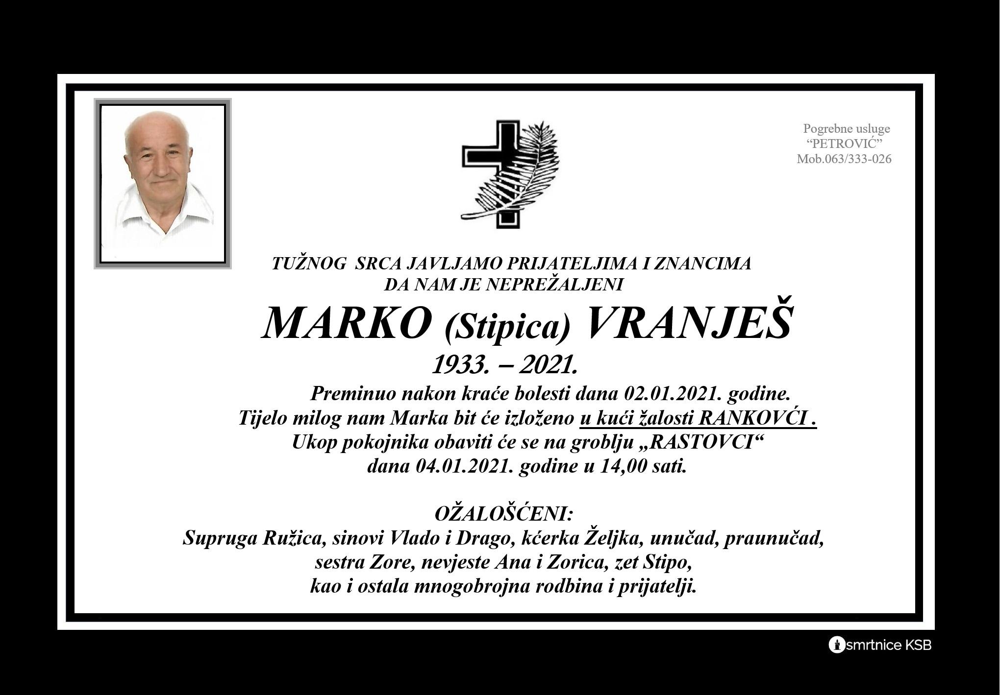 Marko (Stipica) Vranješ