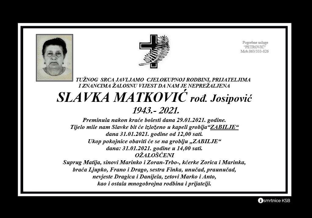 Slavka Matković rođ. Josipović