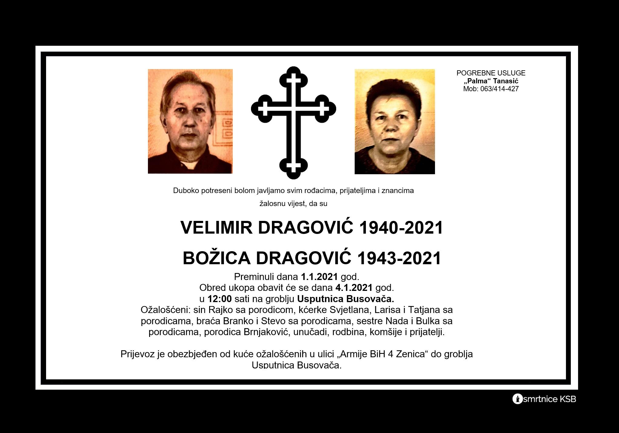 Velimir Dragović i Božica Dragović