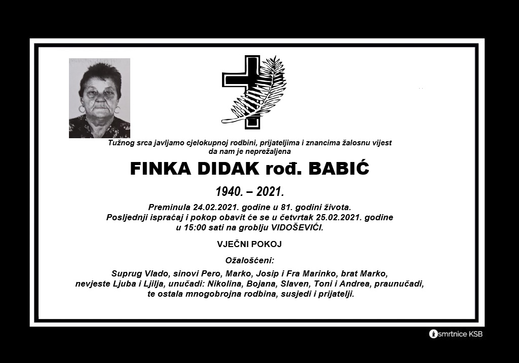 Finka Didak rođ. Babić