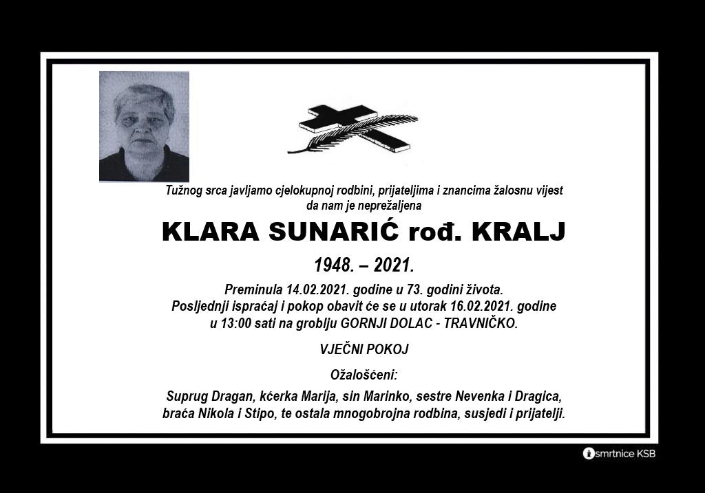 Klara Sunarić rođ. Kralj