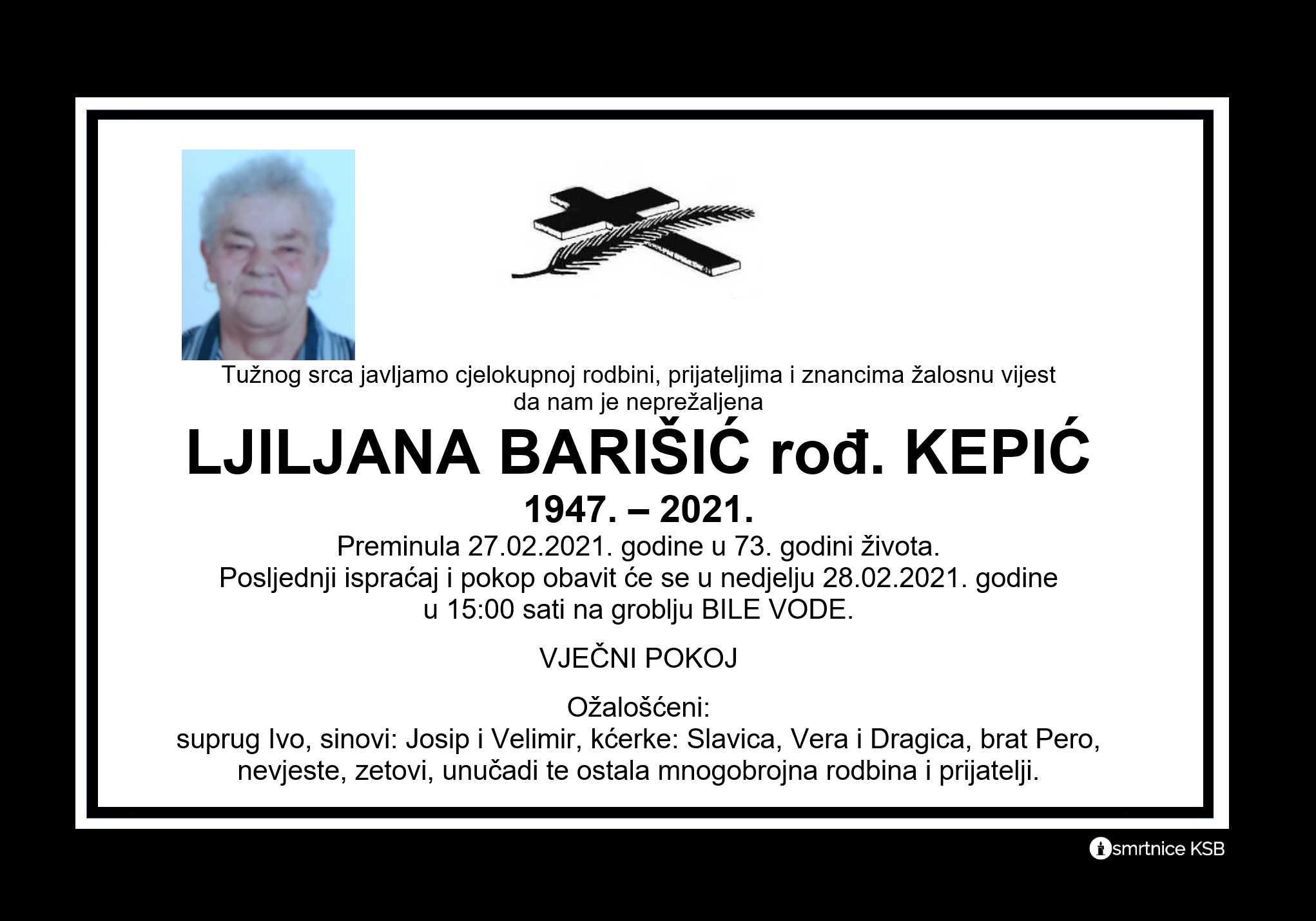 Ljiljana Barišić rođ. Kepić
