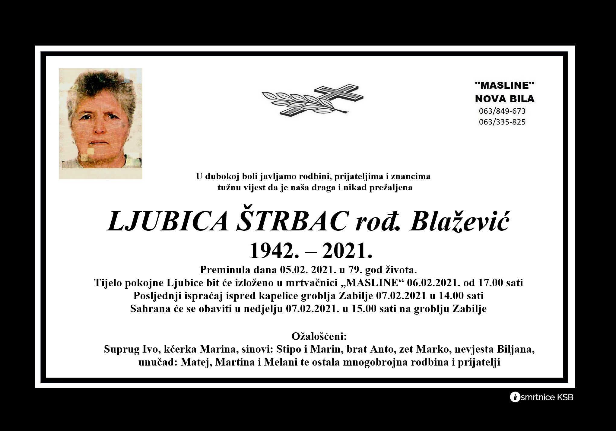 Ljubica Štrbac rođ. Blažević