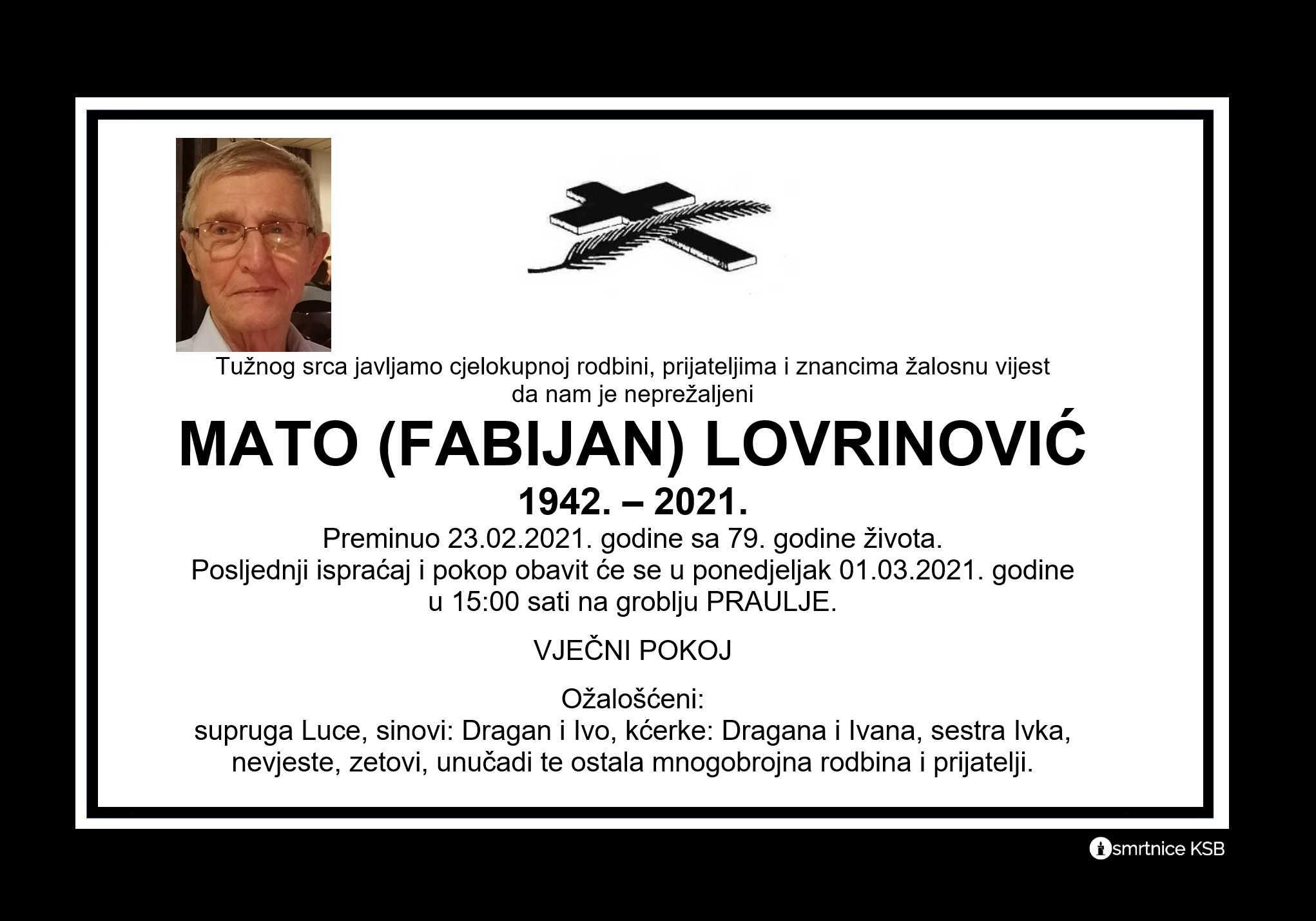 Mato (Fabijan) Lovrinović