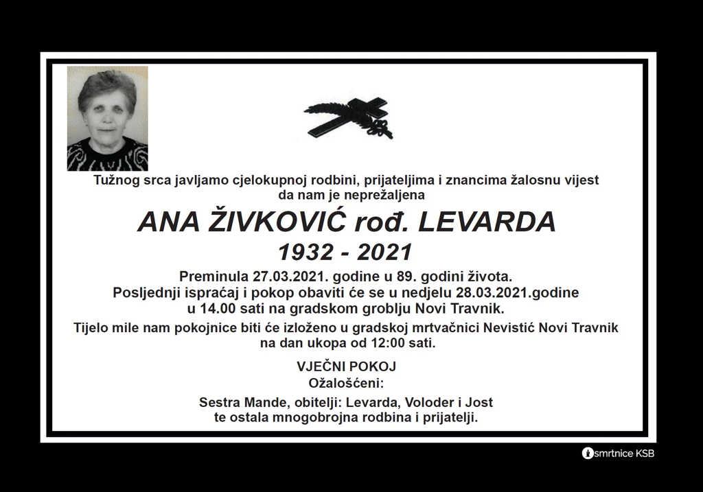 Ana Živković rođ. Levarda