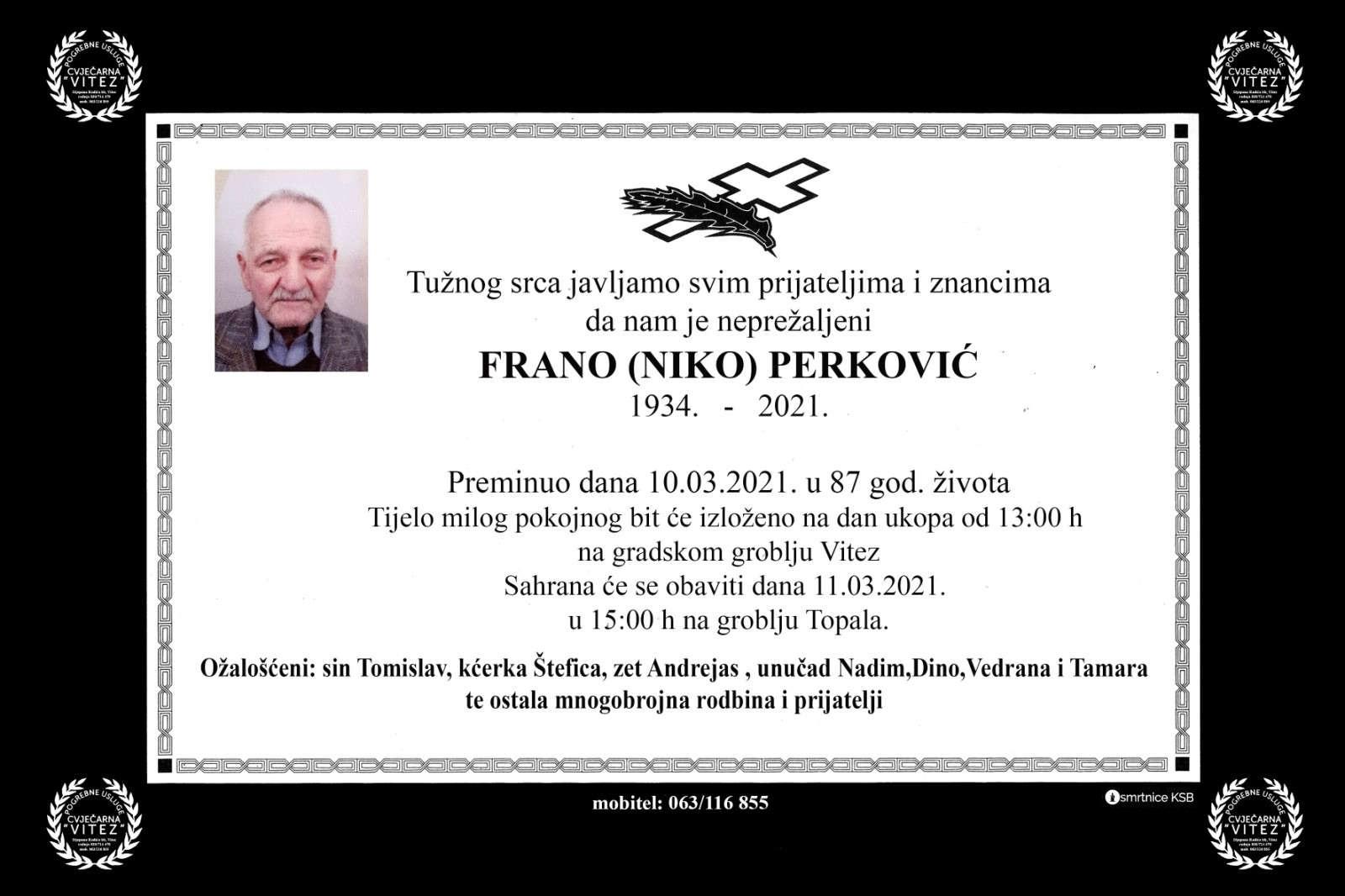 Frano (Niko) Perković