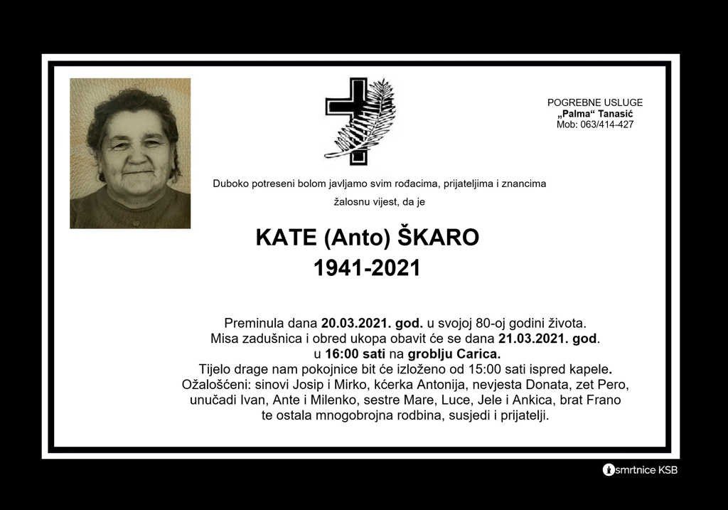 Read more about the article Kate (Anto) Škaro