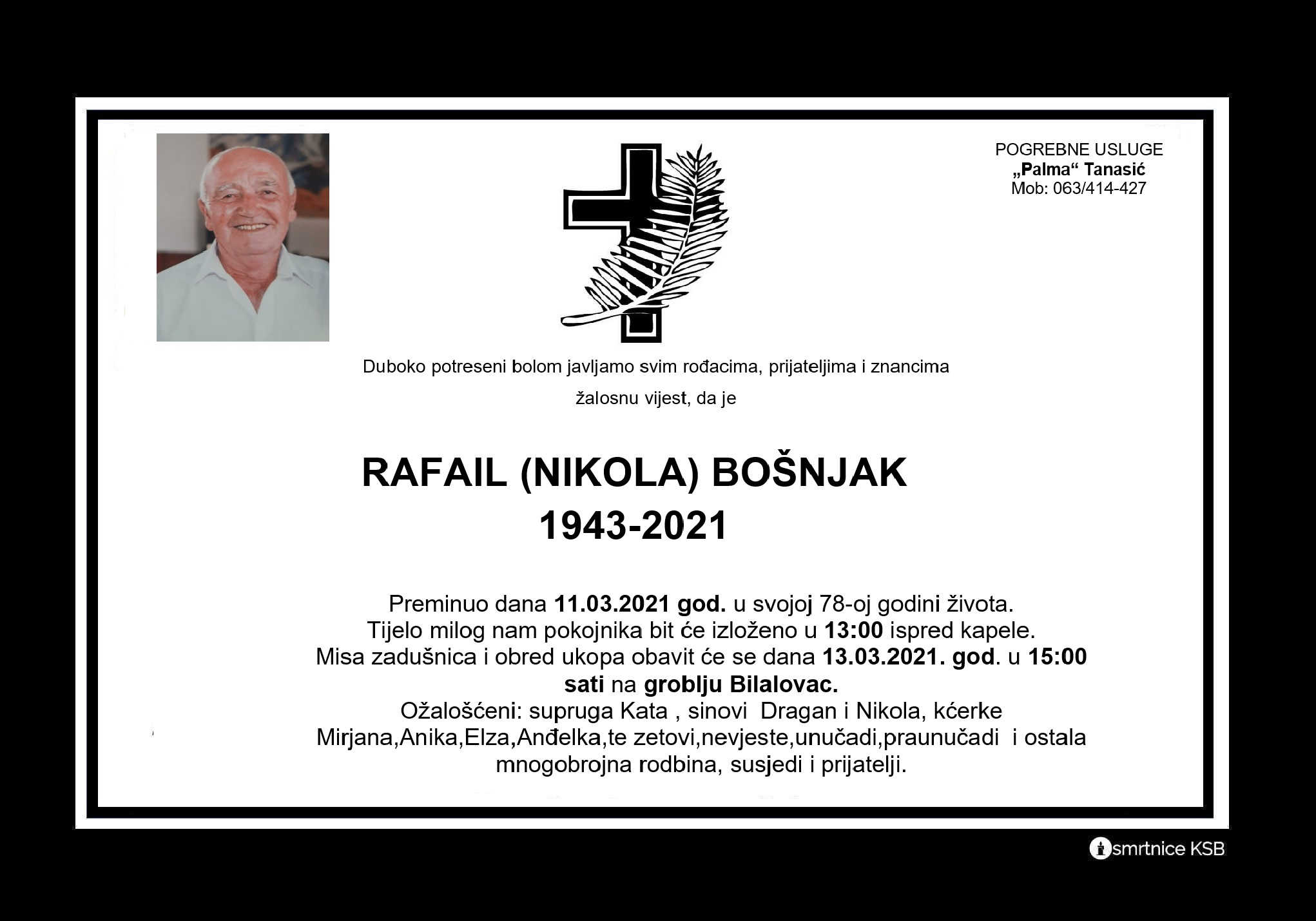 Read more about the article Rafail (Nikola) Bošnjak