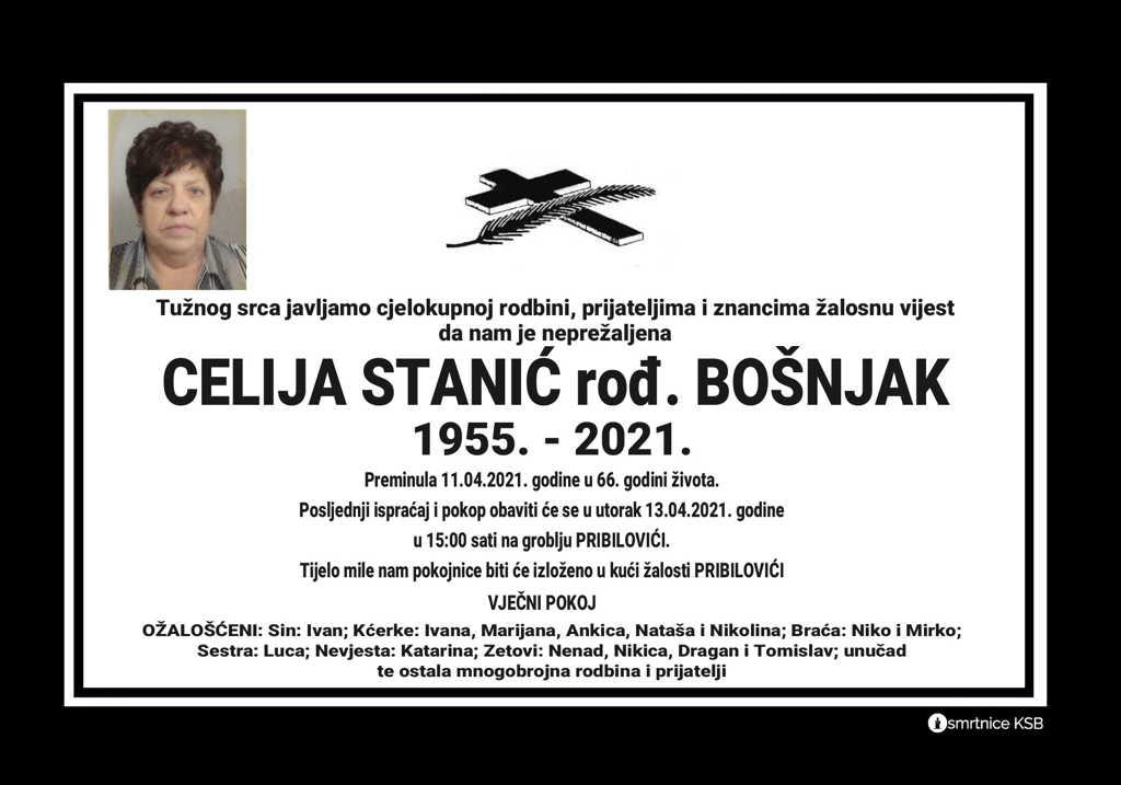 Celija Stanić rođ. Bošnjak