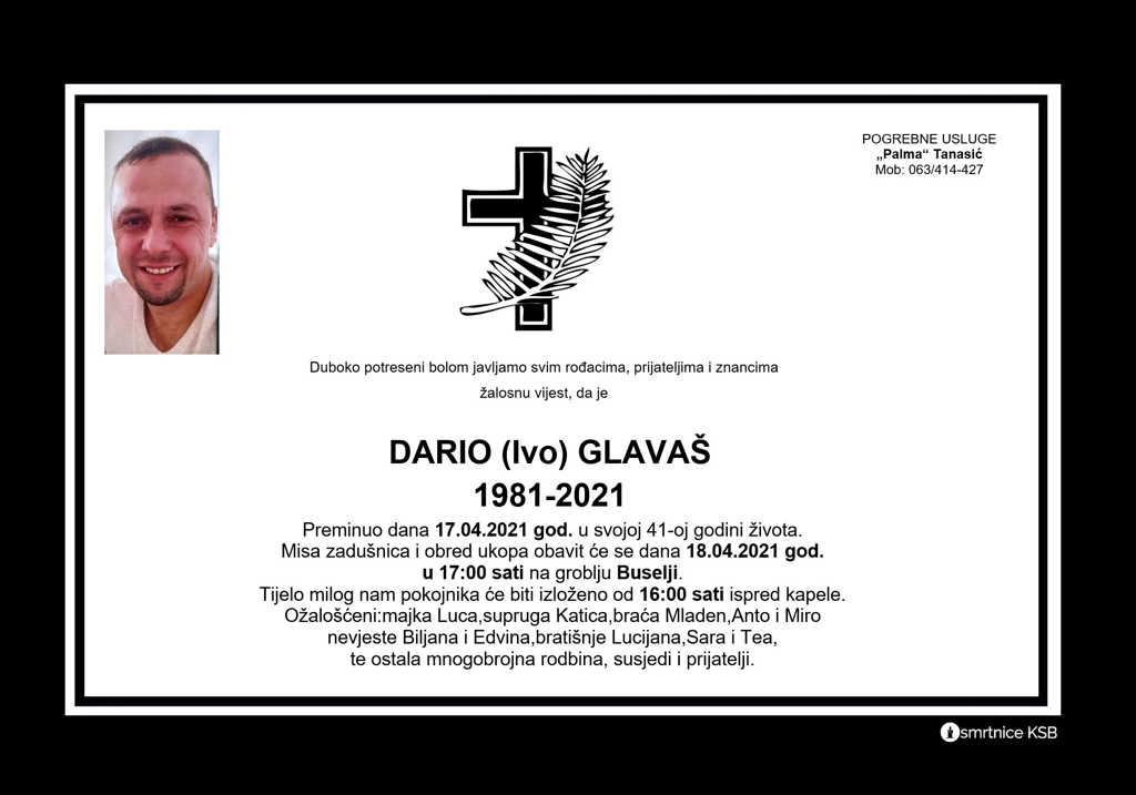 Read more about the article Dario (Ivo) Glavaš