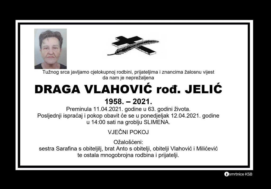 Draga Vlahović rođ. Jelić