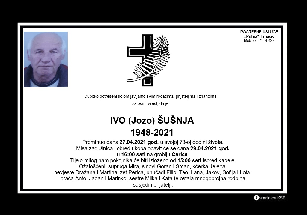 Read more about the article Ivo (Jozo) Šušnja