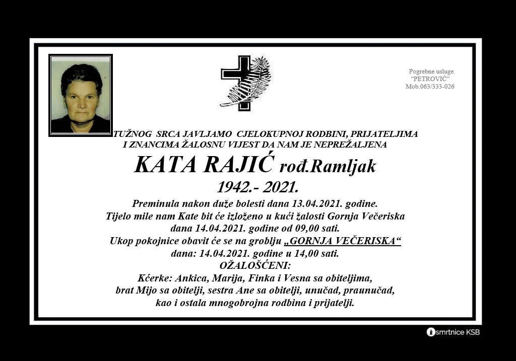 Kata Rajić rođ. Ramljak