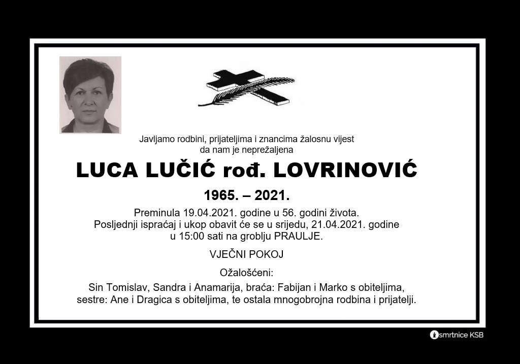 Luca Lučić rođ. Lovrinović