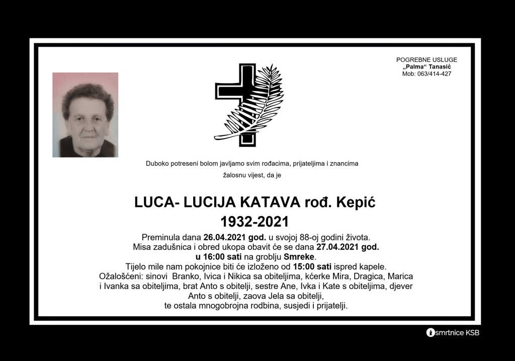 Read more about the article Luca – Lucija Katava rođ. Kepić