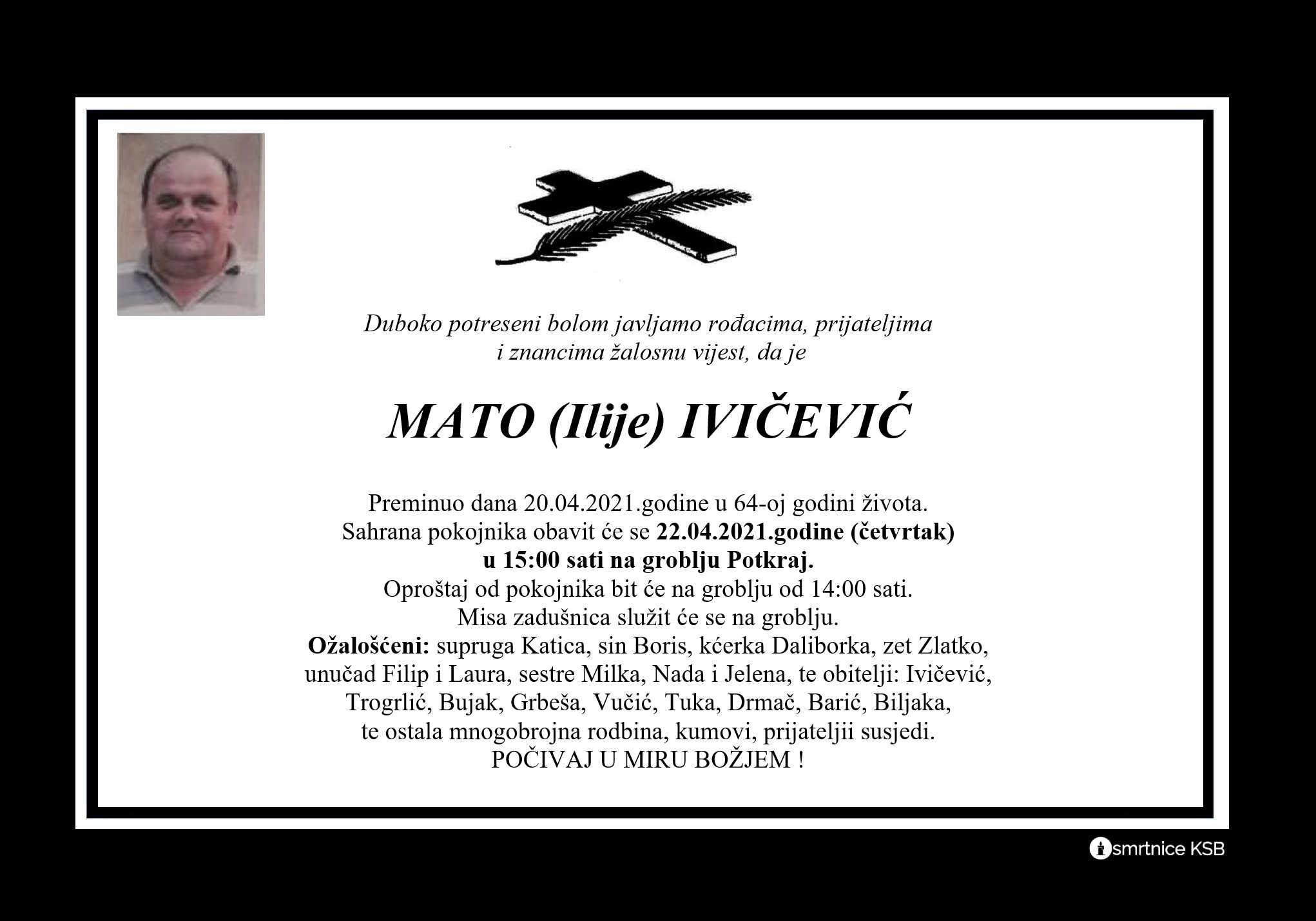 Read more about the article Mato (Ilije) Ivičević