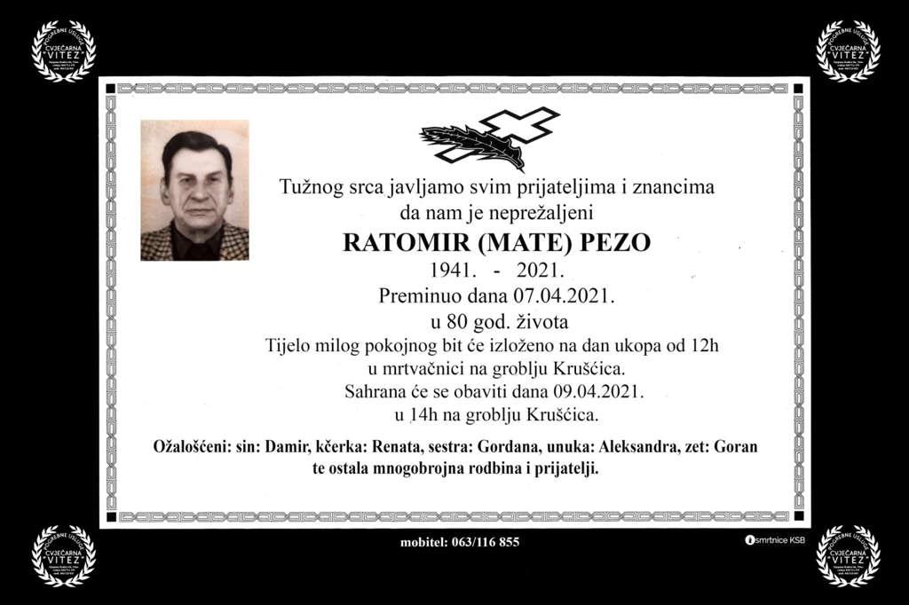 Ratomir (Mate) Pezo