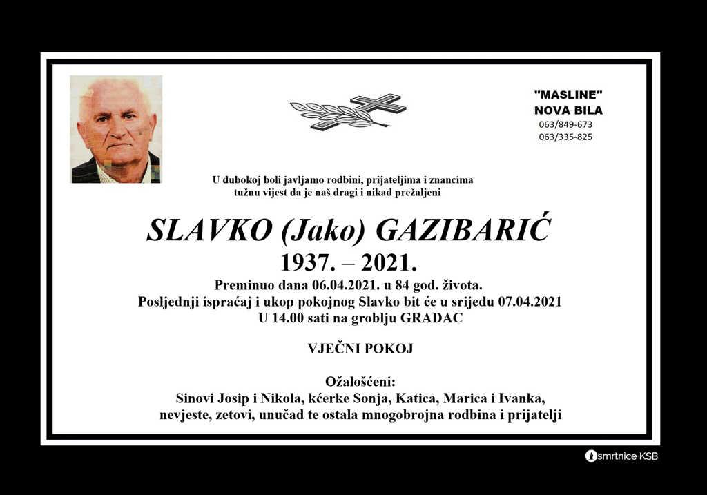 Slavko (Jako) Gazibarić