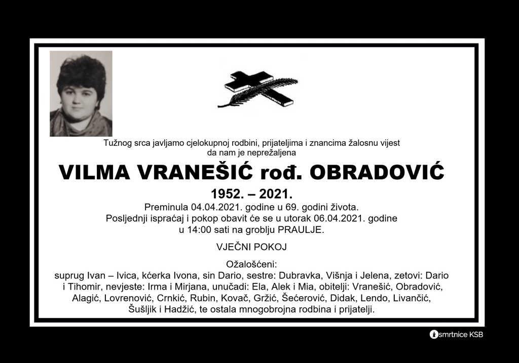 Vilma Vranešić rođ. Obradović