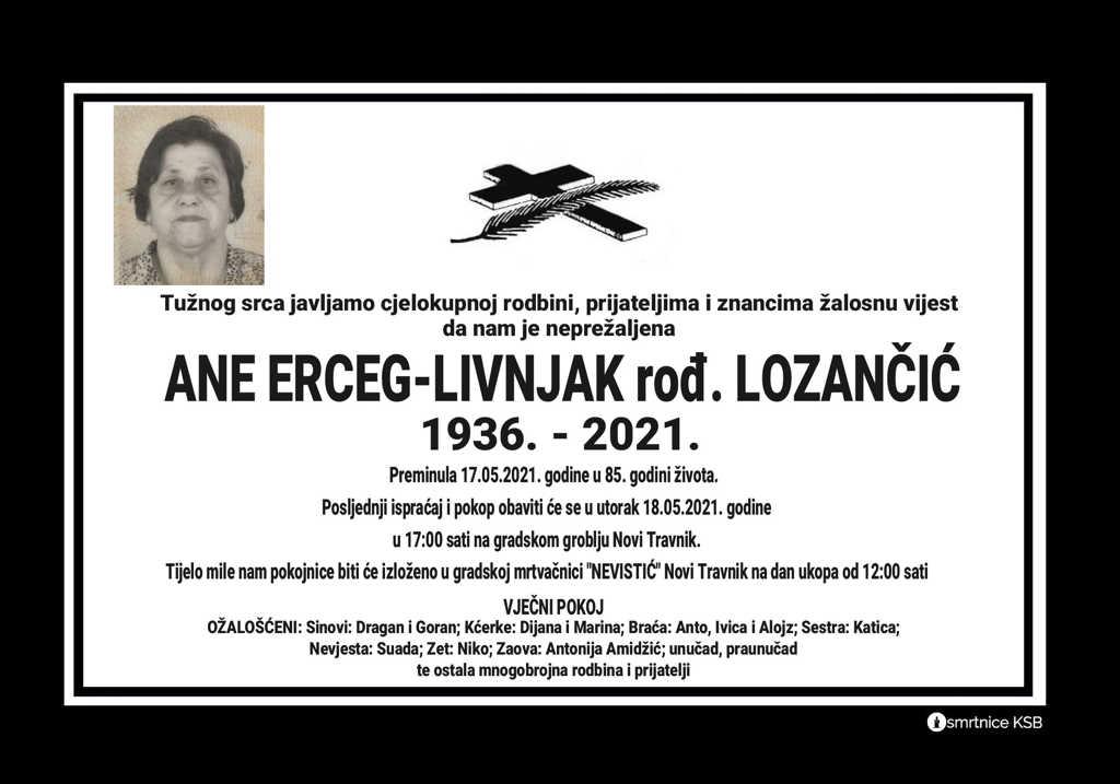 Ana Erceg-Livnjak rođ. Lozančić
