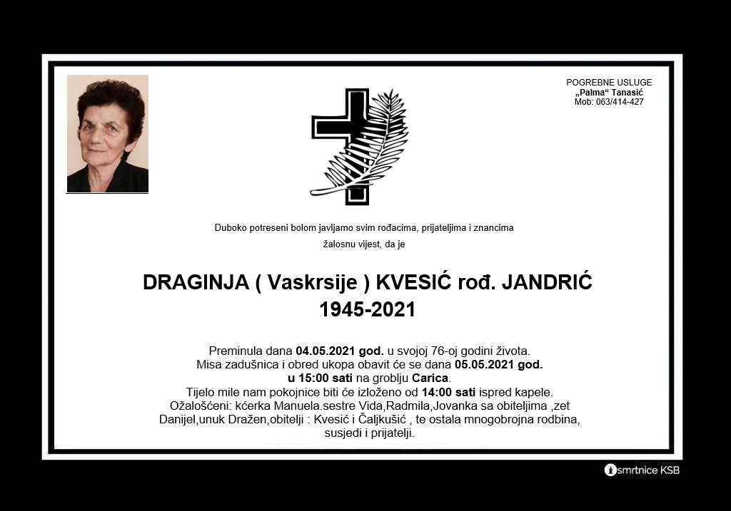 Read more about the article Draginja (Vaskrsije) Kvesić rođ. Jandrić
