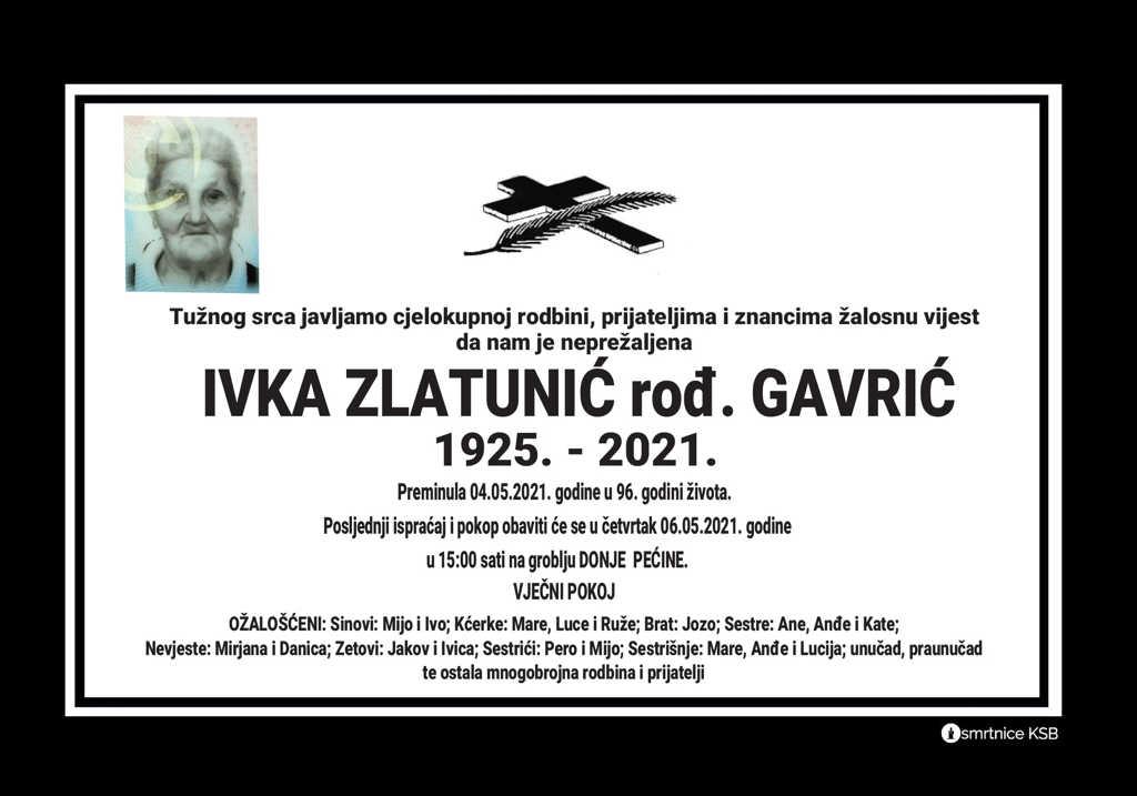 Ivka Zlatunić rođ. Gavrić