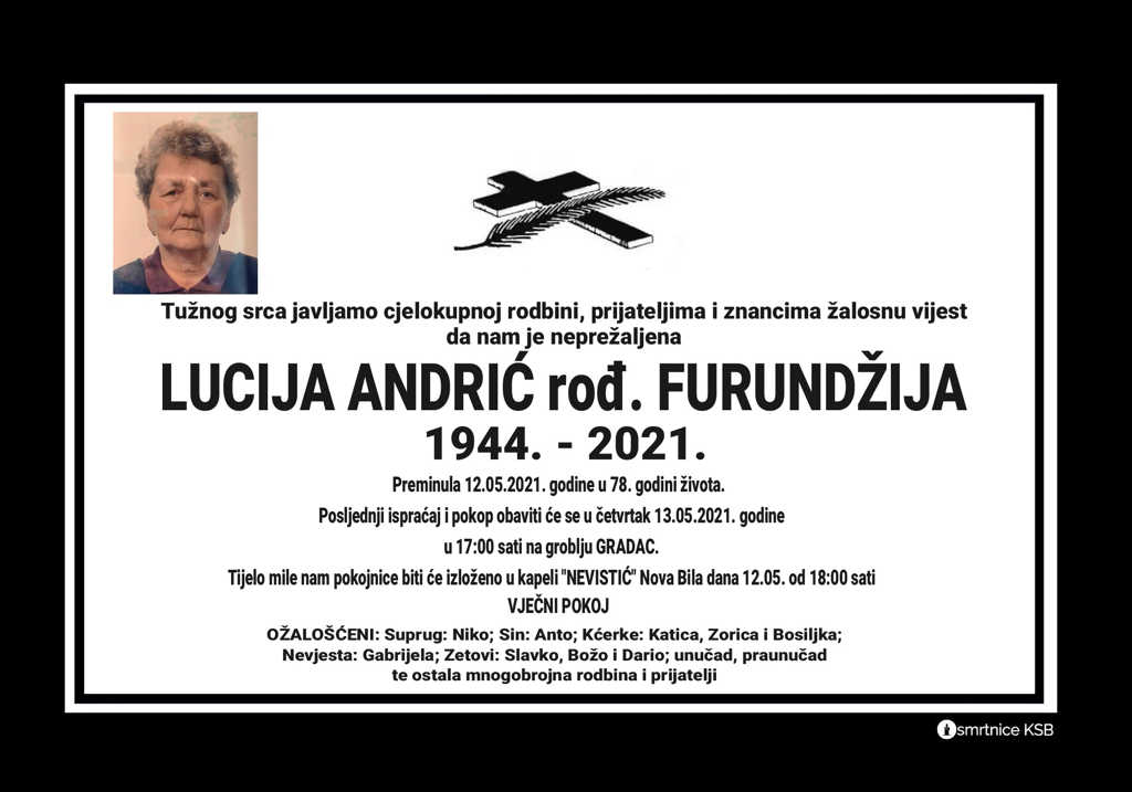 Lucija Andrić rođ. Furundžija