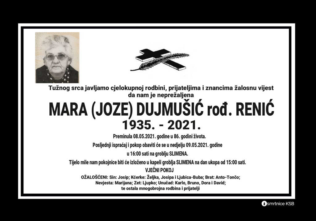 Mara (Joze) Dujmušić rođ. Renić