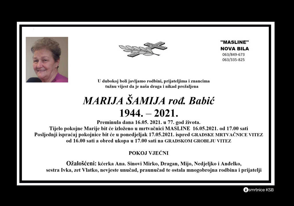Read more about the article Marija Šamija rođ. Babić