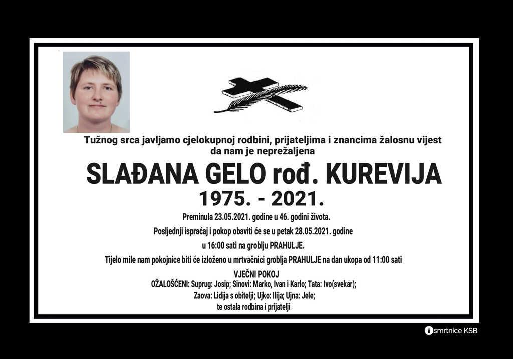 Slađana Gelo rođ. Kurevija