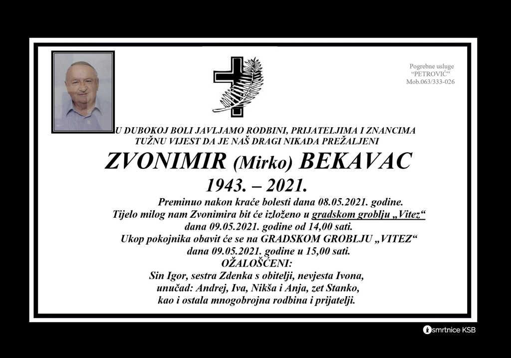 Zvonimir (Mirko) Bekavac