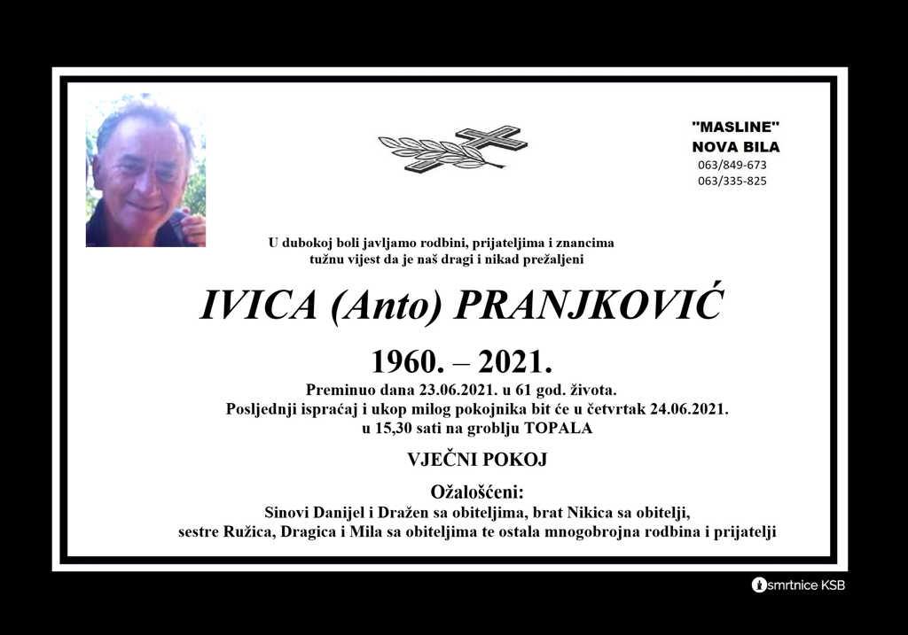 Read more about the article Ivica (Anto) Pranjković