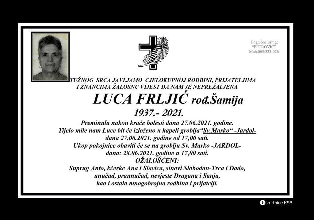Read more about the article Luca Frljić rođ. Šamija