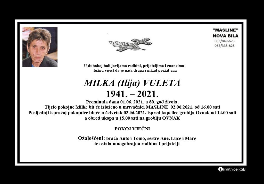 Milka (Ilija) Vuleta