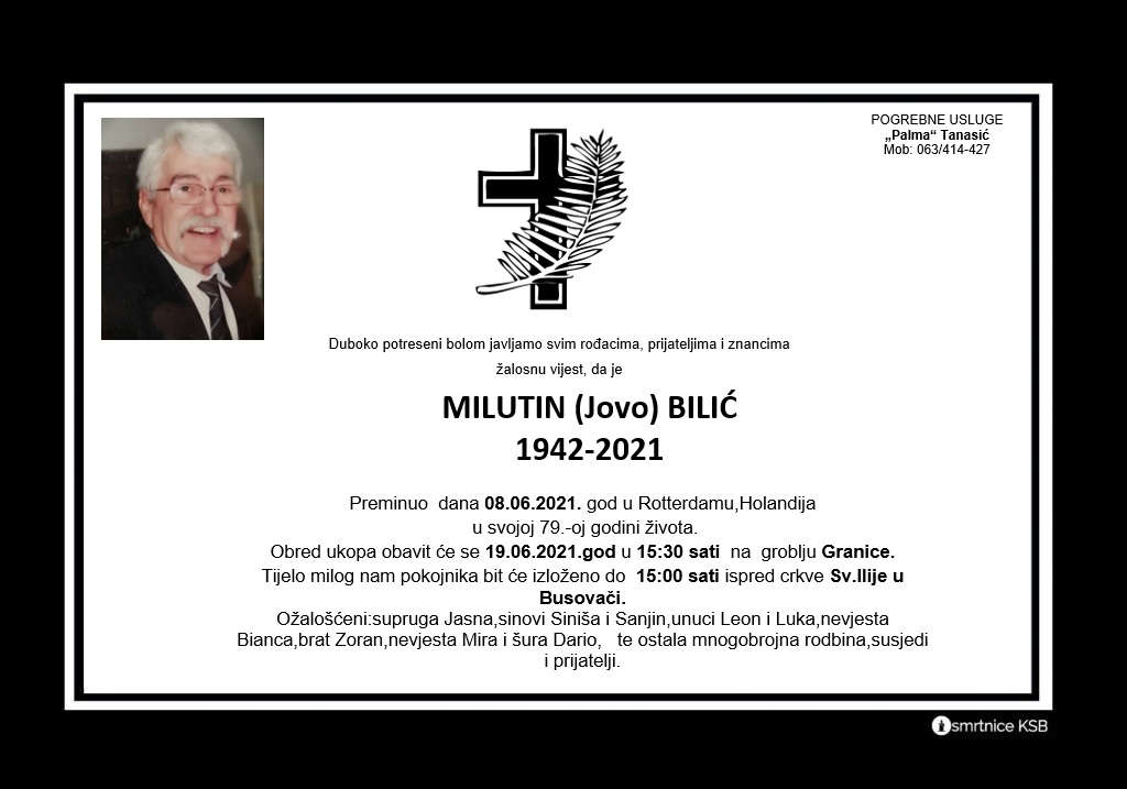 Read more about the article Milutin (Jovo) Bilić