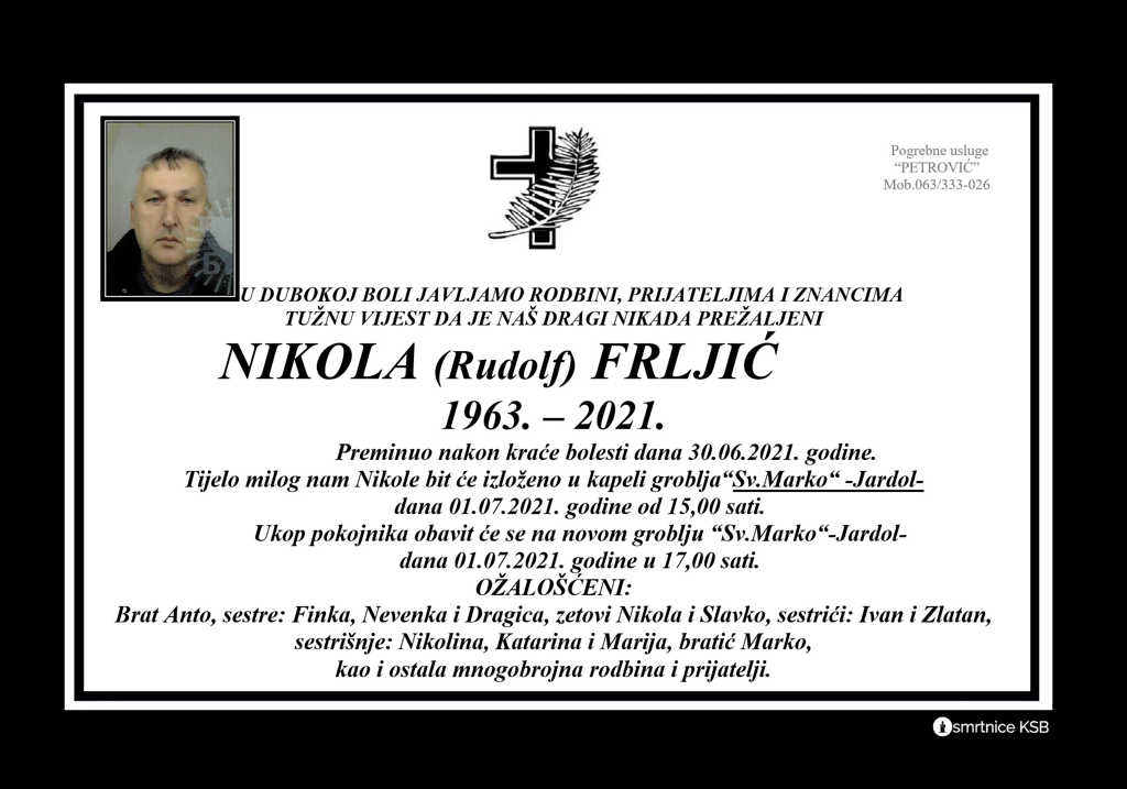 Read more about the article Nikola (Rudolf) Frljić