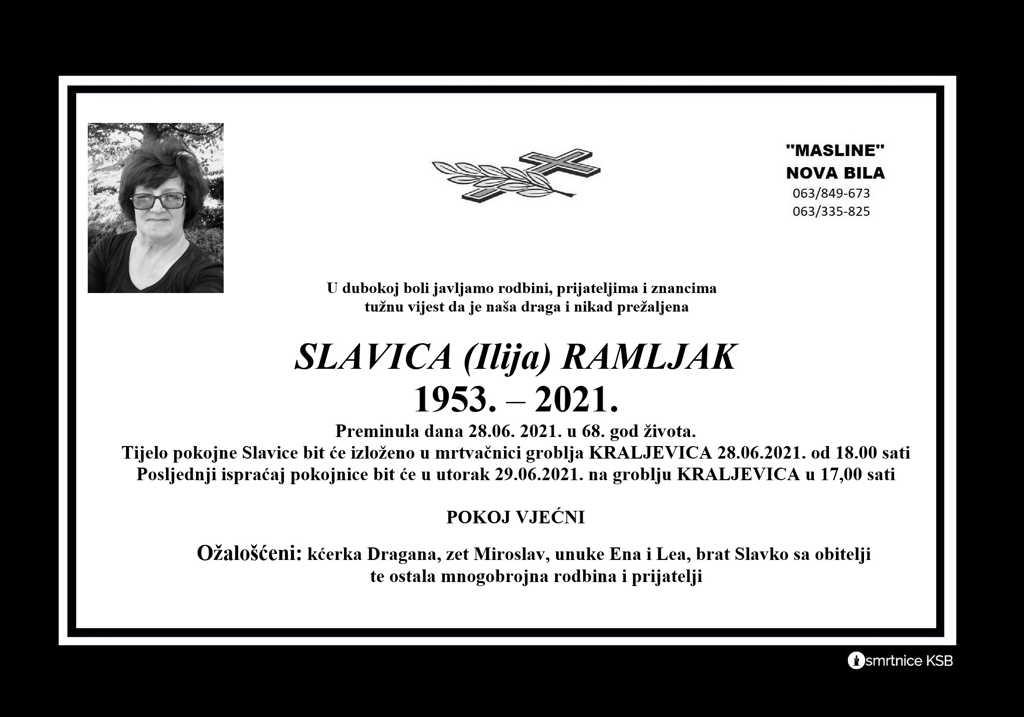 Read more about the article Slavica (Ilija) Ramljak