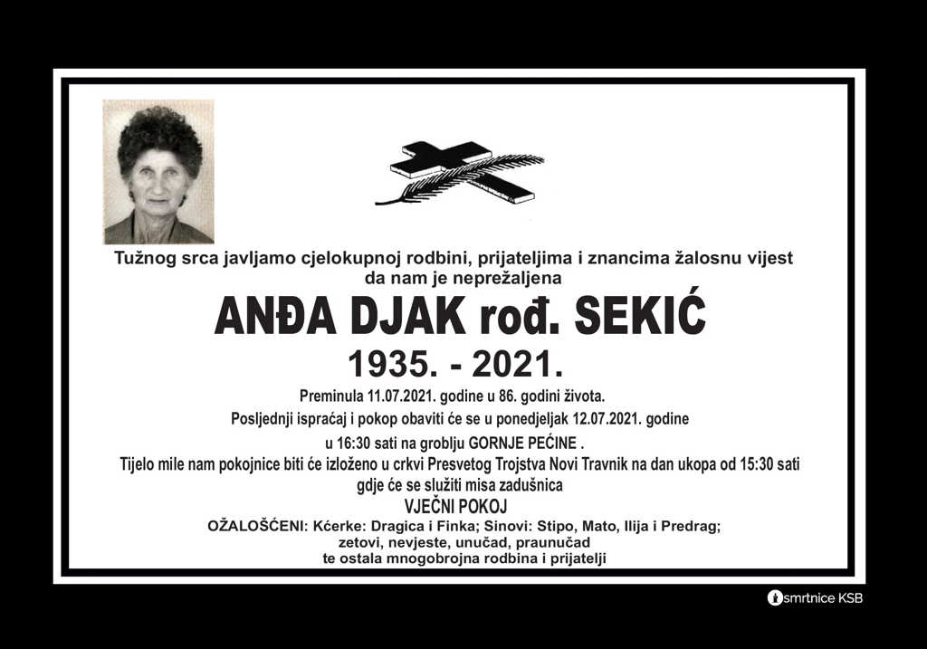 Read more about the article Anđa Djak rođ. Sekić