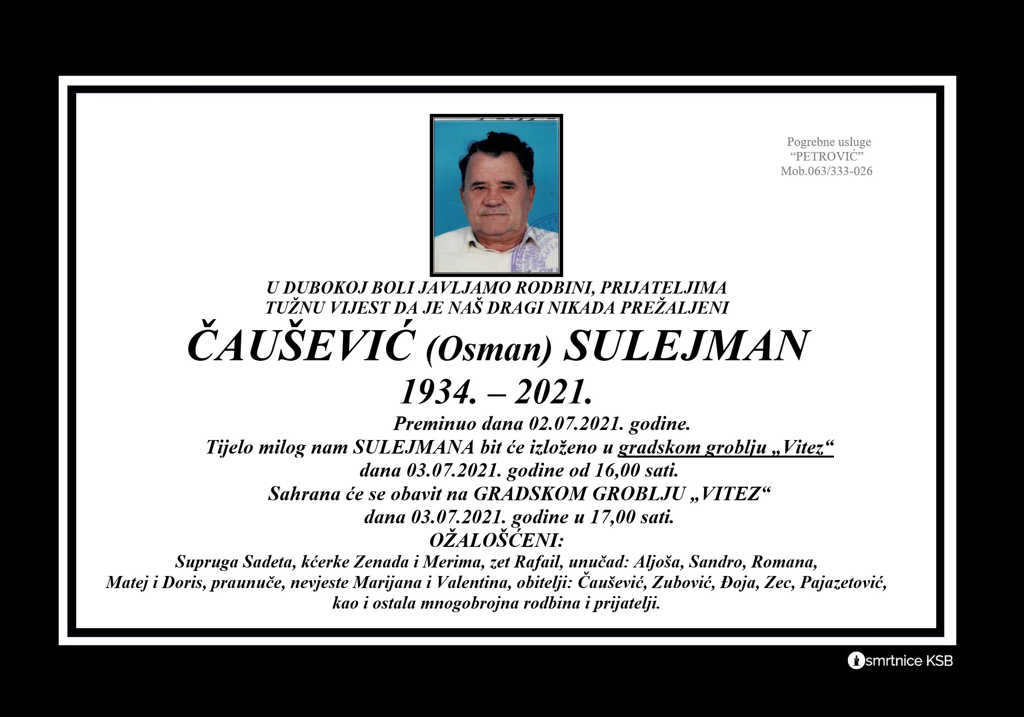 Read more about the article Čaušević (Osman) Sulejman