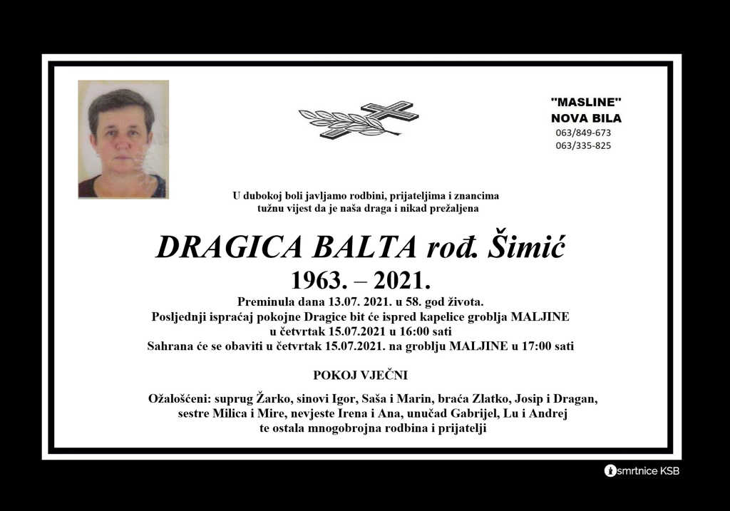 Read more about the article Dragica Balta rođ. Šimić