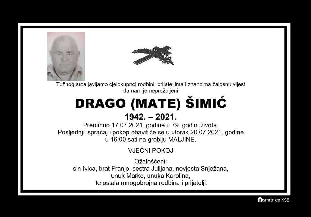 Read more about the article Drago (Mate) Šimić