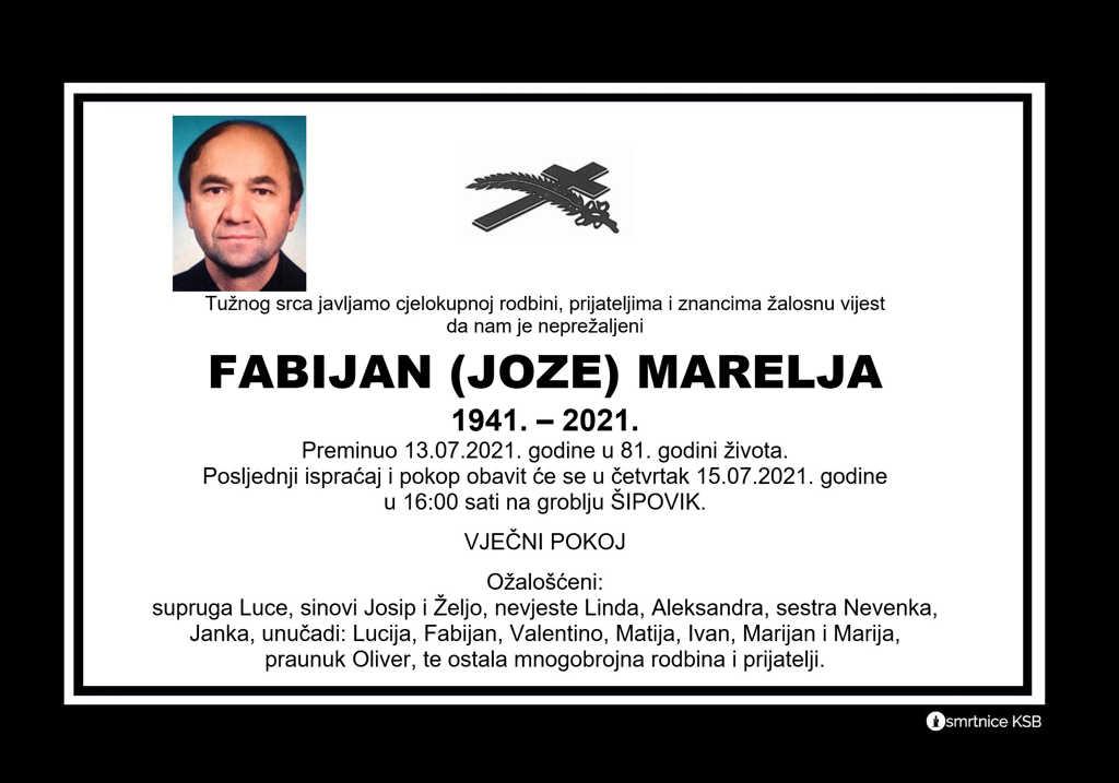 Read more about the article Fabijan (Joze) Marelja