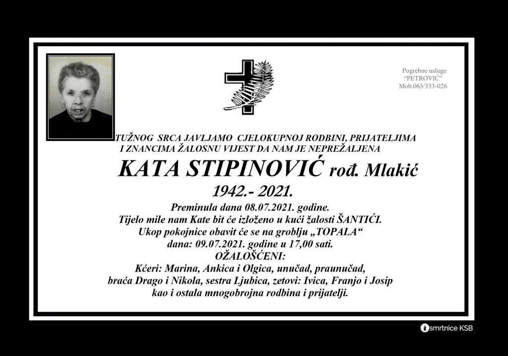 Read more about the article Kata Stipinović rođ. Mlakić